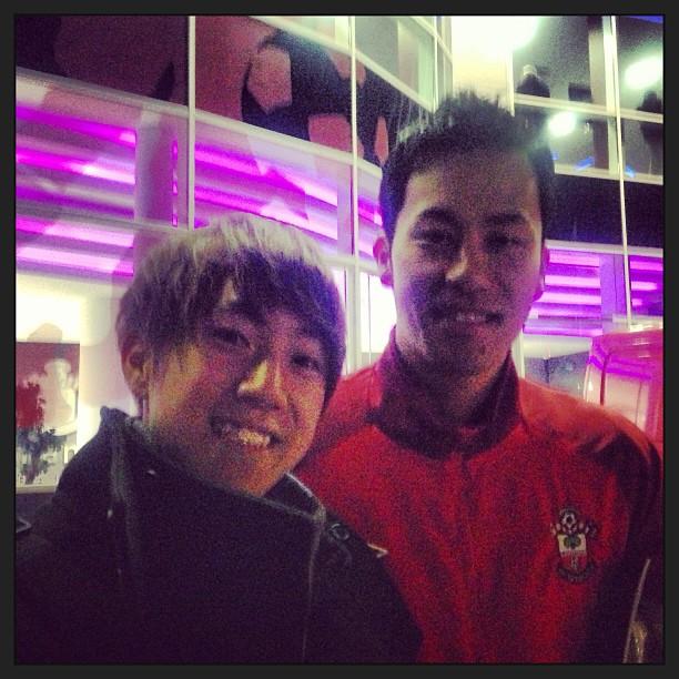 サウサンプトンの吉田麻也選手と。