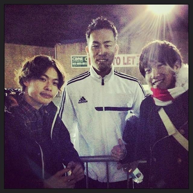 吉田麻也選手と。