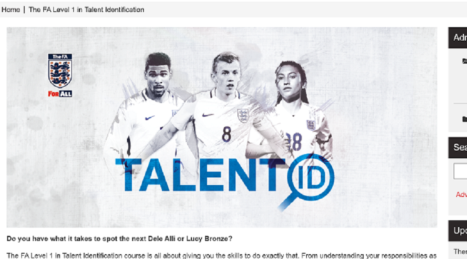 FA level1 in Talent Identificationを受講してみた!
